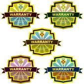 WARRANTY. Vector label set for sale. — Stock Vector
