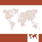Wektor mapa świata. — Wektor stockowy