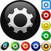 Gear vector button. Vector set. — Stock Vector