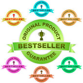 BESTSELLER. Vector guarantee label. Vector set. — Stock Vector