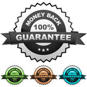 Vector guarantee label. Vector set. — Stock Vector