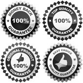 Vector guarantee label. Vector set. — Stock Vector