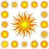Sunburst abstract vector. — Stock Vector