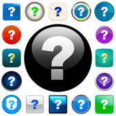Question vector elements. — Stock Vector