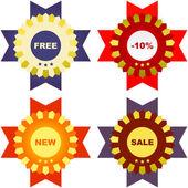 Uppsättning designelement för försäljning. stor samling. — Stockvektor