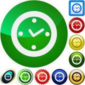 Boutons de l'horloge — Vecteur