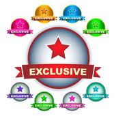 Exclusive emblem. Vector set. — Stock Vector