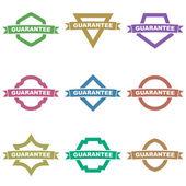 Guarantee signs — Stock Vector