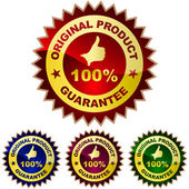 Guarantee label set. — Stock Vector
