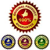 Guarantee label set. — Stock Vector
