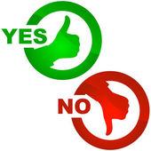 Oui et pas d'icône. — Vecteur