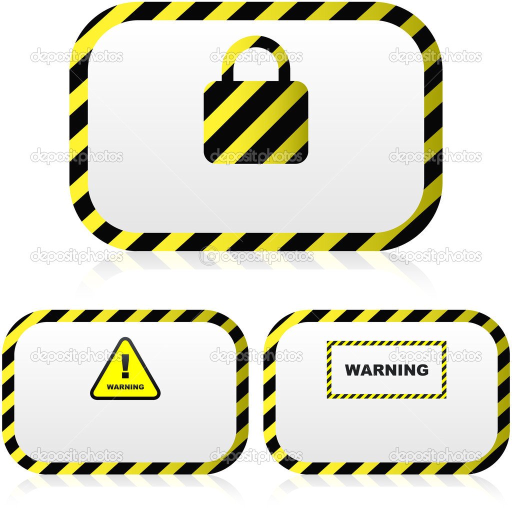 Warning vector banner. Vector template.  — Stock Vector #1434942