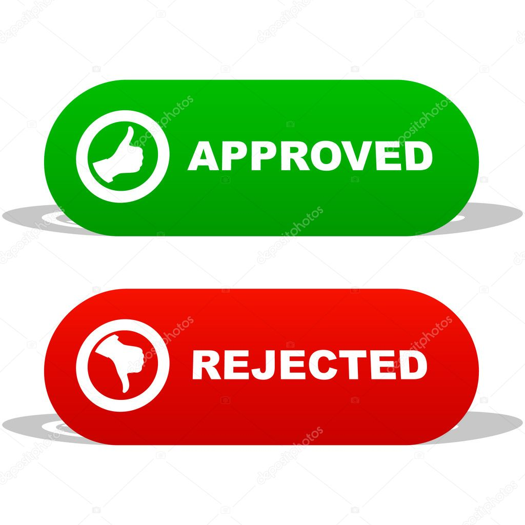 Approved and rejected icons. — Stock Vector #1436946