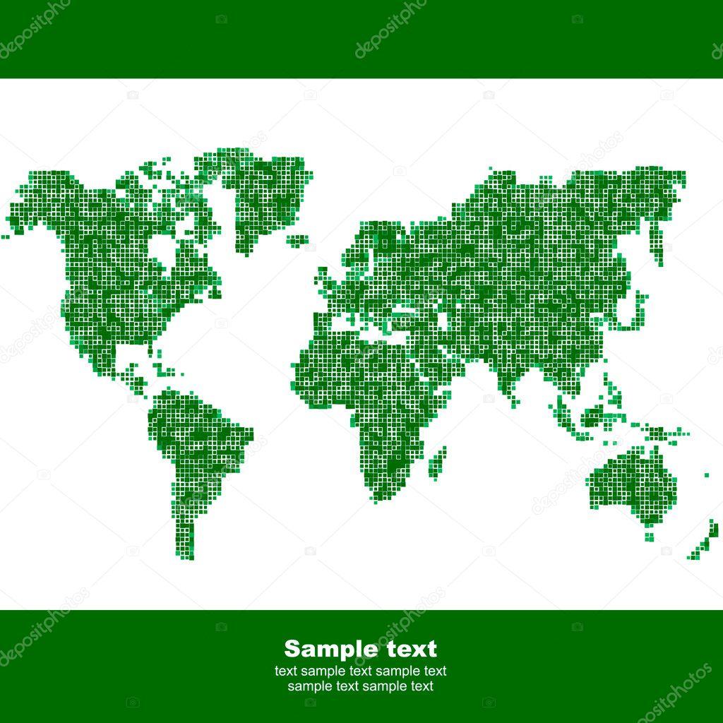 矢量世界地图.商业背景