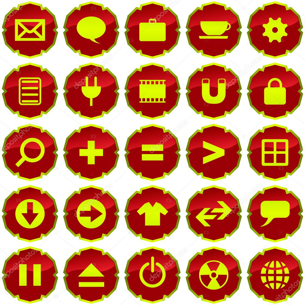 Vector beautiful icon set for web — Stock Vector #1439531