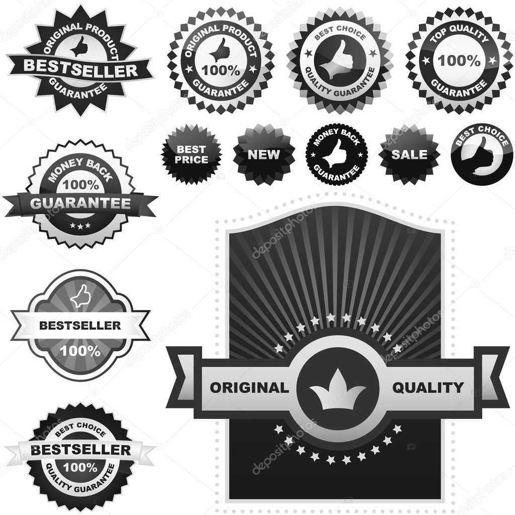 Vector collection of sale labels  — Stock Vector #1439871