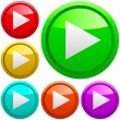 Stock Vector: Play buttons.