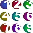 Royalty-Free Stock Vector Image: Number icons.