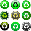 Royalty-Free Stock Vector Image: Recycle button.