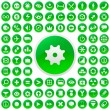 Web buttons. Green collection. — Stock vektor