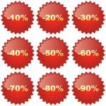 Discount label — Stock Vector
