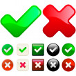 Approved and rejected buttons. — Stock Vector