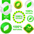 Eco labels. — Vector de stock