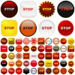 Stop button. - Stock Vector