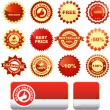 Sale labels — Stock Vector #1440699