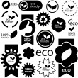 Eco signs — Vector de stock