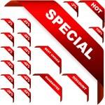 Corner ribbons for sale — Stock Vector