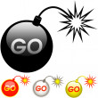 Stock Vector: GO icon.