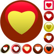 Heart icons. — Stock Vector #1441463