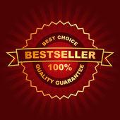 Emblema do Best-seller. — Vetor de Stock