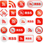 RSS button set. — Stock Vector