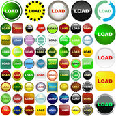 Load button set. — Stock Vector