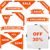 Sale labels and tags — Stock Vector