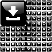 Icon set vector — Vecteur