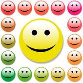 Smiley face. — Stock Vector