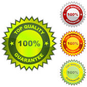 GUARANTEE label. Sale signs — Stock Vector