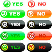Yes and No icon. — Stock Vector