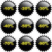 Satılık işaretleri — Stok Vektör