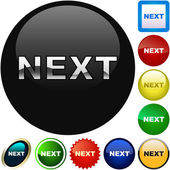 Next button. — Stock Vector