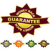 Guarantee label. — Stock Vector