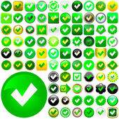 Approved buttons. — Stock Vector