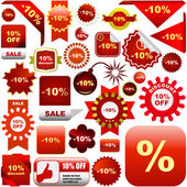 Set of sale signs — Stock Vector