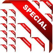κορδέλες γωνία προς πώληση — Διανυσματικό Αρχείο