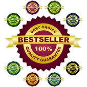 Bestseller amblemi. — Stok Vektör