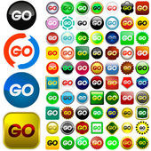Go icon — Stock Vector