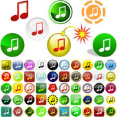 Music button. — Vector de stock